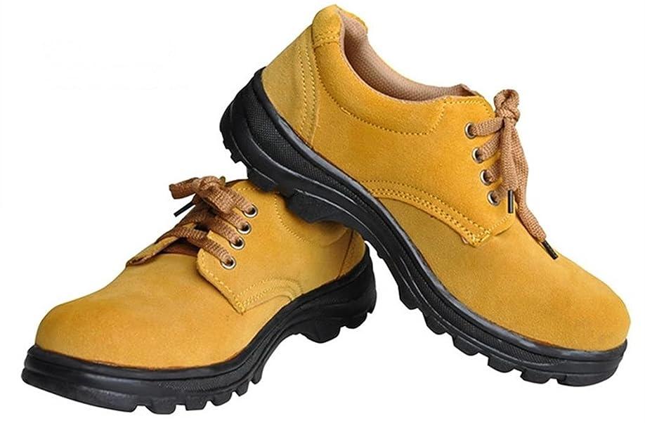[china] GeBaoZhen」革 安全靴 牛革 作業靴 短靴 革靴 メンズ 鋼先芯入り 耐油 滑り止め 防滑 作業 作業用 ローカット靴 溶接 セーフティーシューズ ワークマン