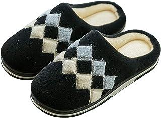 YQSHOES Pantoufles Coton Peluche Chaussons Doublure Intérieure Douce Mules Femme Hommes Homme Accueil Slippers Chaussures ...
