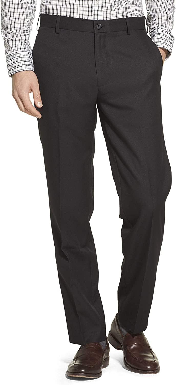 IZOD Men's Dedication Flat Front Straight Dress 5 ☆ very popular Fit Pant Solid