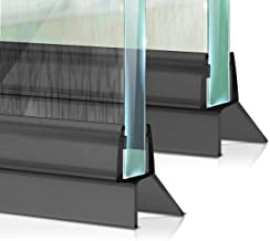 Meisterfaktur Doucheafdichting [2x] - eerste keer in zwart - ideale afdichting voor glazen deuren van 6,7,8 mm in douches