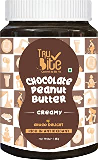 Trubite Chocolate Peanut Butter (Creamy) (1kg) | High in Protein | Goodness of Dark Chocolate | No Cholesterol | Rich in A...