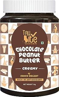 Trubite Chocolate Peanut Butter (Creamy) (1kg) | High in Protein | Goodness of Dark Chocolate | No Cholesterol | Rich in A...