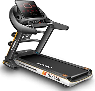 Kobo Fitness 4 H.P (TM-308) Motorized Auto Incline Treadmill with Massager, Full LED Display and Free Installation Assista...