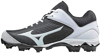 Mizuno Women's 9-Spike Advanced Finch Elite 3 Fastpitch Cleat Softball Shoe, Black/White, 8.5 B US