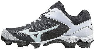 Mizuno Women's 9-Spike Advanced Finch Elite 3 Fastpitch Cleat Softball Shoe, Black/White, 7.5 B US