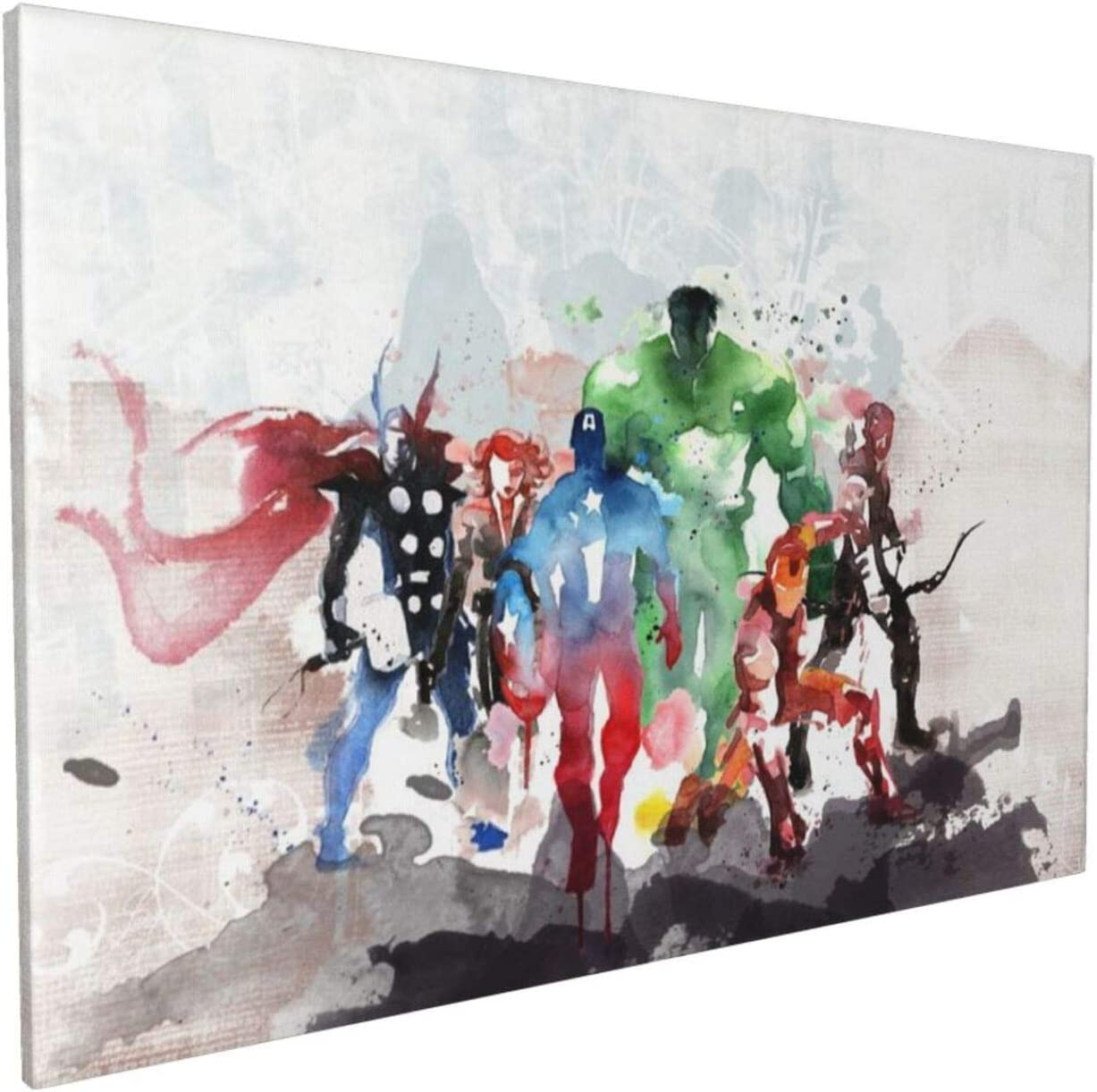 Watercolor The Avengers Super Heroes Ranking TOP4 Selling rankings Collage Picture Painting Ca