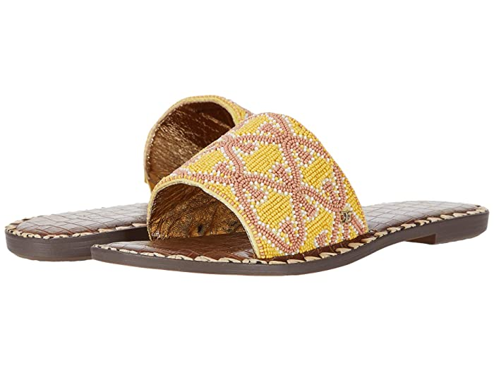 Sam Edelman  Gunner (Yellow Multi Beaded Double E Repeat) Womens Sandals