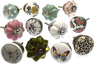 12er 12-ND/_3-A Möbelknöpfe Möbelgriffe Möbelknopf Keramik Shabby marmoriert