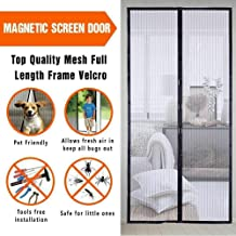 Mose Cafolo ~Hands Free Mesh Screen Net Door Anti Mosquito Bug Magic Curtain with Heavy Duty Magnets Full Frame Velcro Mesh Curtain fit up to 34