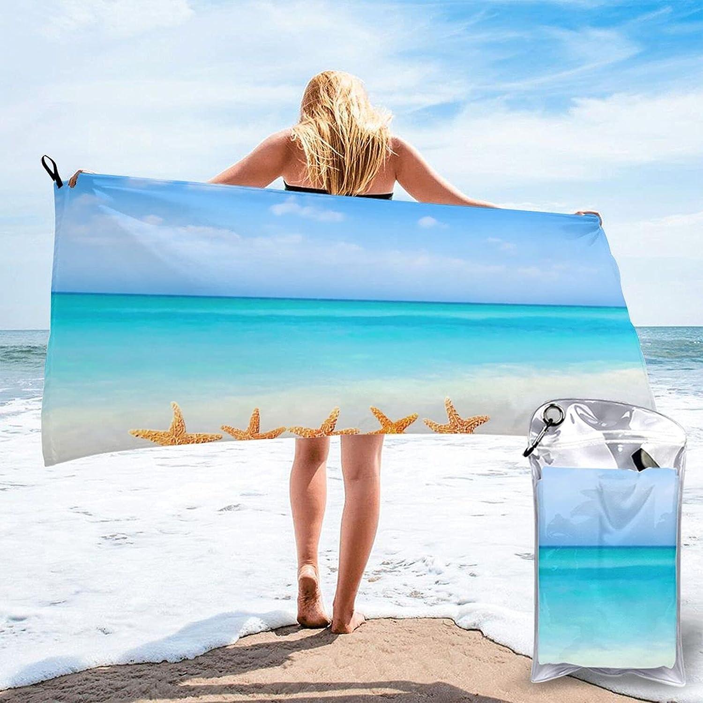 Beach Towel-Quick Dry Starfish On Oversized Rapid rise Bea Large Thin Philadelphia Mall