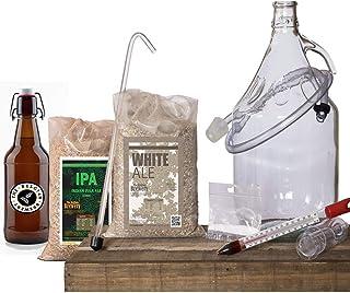 THE BELGIAN BREWERY - Kit Brassage de Bière Maison 5L White et IPA Amber - 15 Bouteilles - Craft Beer Belge - Idée Cadeau