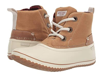 Sperry Schooner 3-Eye Lace-Up Canvas (Tan) Women