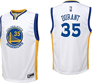 Outerstuff Kevin Durant Golden State Warriors #35 White Youth Home Replica Jersey