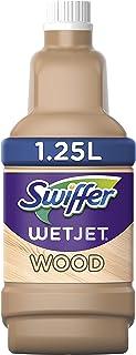 Swiffer Wetjet Wood Nettoyant Sol pour Balai Spray, 5L (4 x 1.25L ), Conçu pour les Sols en Bois Fini