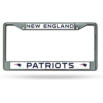 Rico Official National Football League Fan Shop Licensed NFL Shop Authentic Chrome License Plate Frame and Colored Auto Emblem