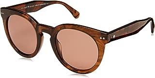 Kate Spade Women's Alexus/s Oval Sunglasses, Dark Havana, 50 mm