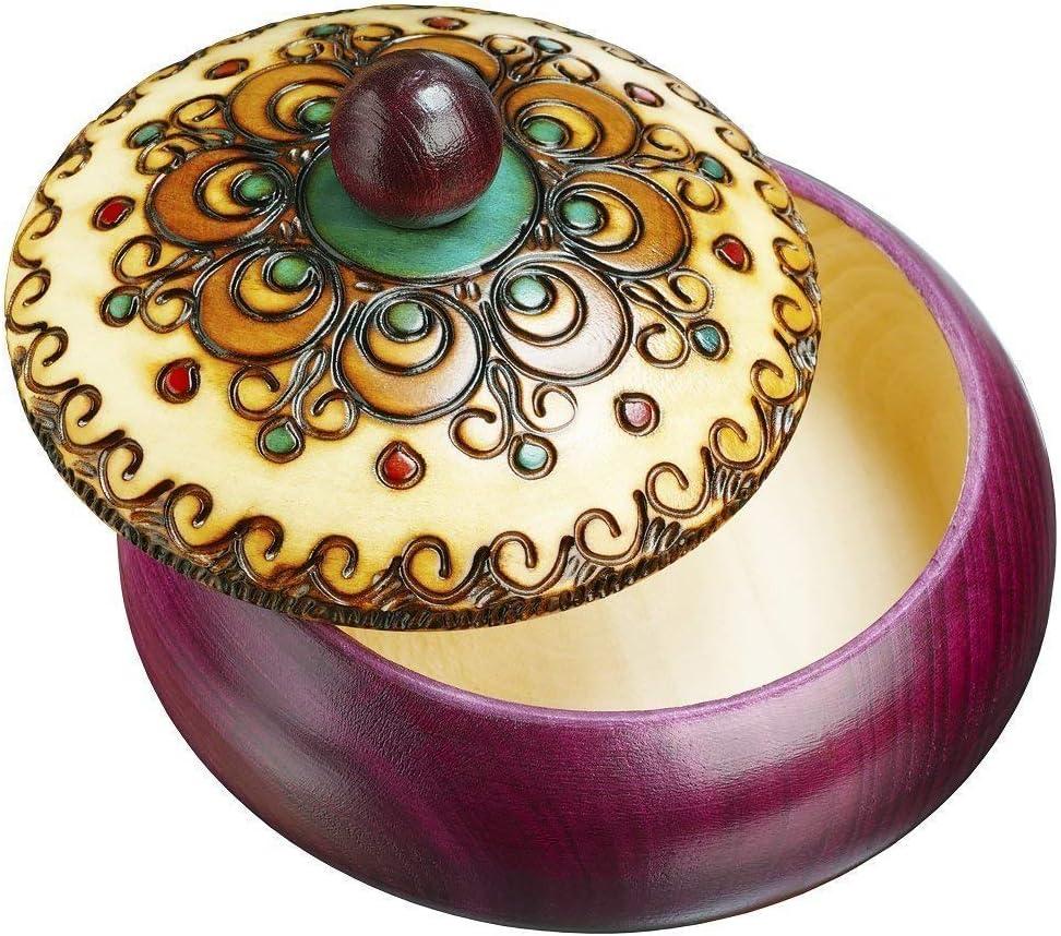 Round Engraved Box Polish Tucson Mall Handmade Keepsake Jewelry Wood Linden SALENEW very popular