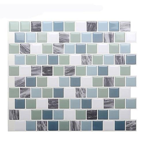 Waterproof Bathroom Vinyl Peel And Stick Tiles Amazon Com