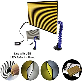 JMgist LED Stripe Line Board Paintless Dent Repair Tools Double Stripe Reflector Board PDR USB Line Board