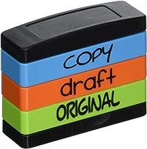 Stack Stamp Pre-Inked Triple Message Stamp, Copy, Draft, Original (8801)