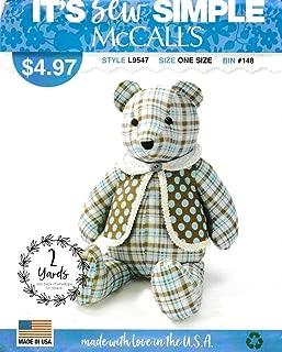 McCall's Sewing Pattern L9547 ML9547 Stuffed 18
