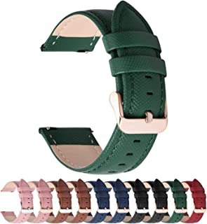 Fullmosa Klockarmband, kors serie äkta läderarmband ersättningsband smart klocka armband med rostfritt stål metallspänne 1...