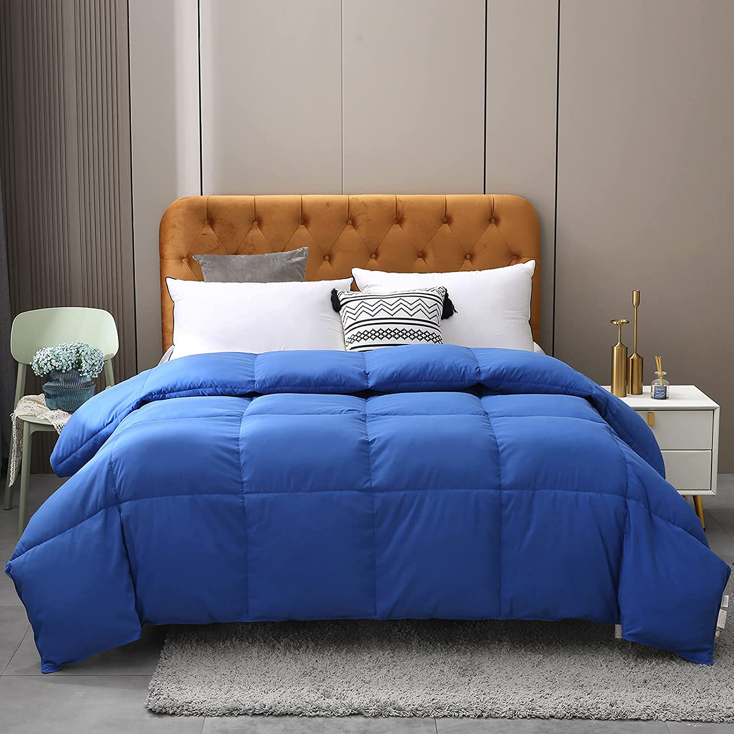 BPC Queen Size Down Comforter - and Goose Regular discount Duck Feather 100% Max 75% OFF