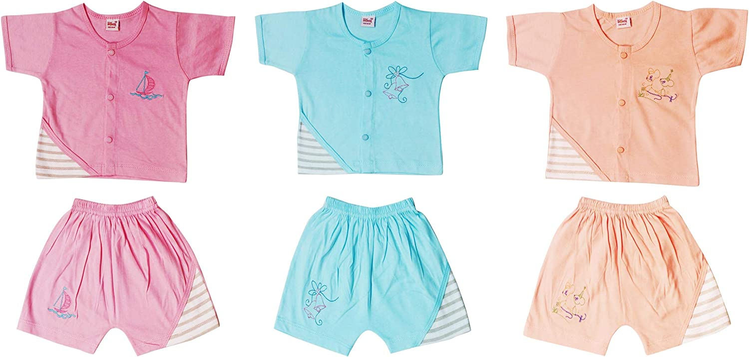 Jo Kids wear Baby Boys Top and Bottom Sets (4067_ 0-6 Months_ Pack of 6)