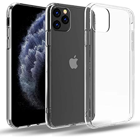 Restoo Designed for iPhone 11 Pro Max Clear Case,Crystal Slim-fit Soft TPU with 4 [Shock-Absorption] Corners Case for iPhone 11 Pro Max 6.5 inch,Clear