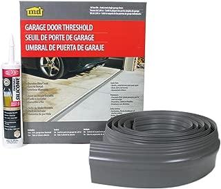 M-D Building Products 50100 M-D Single Garage Door Threshold Kit, 10 Ft L, Vinyl, Gray, 10',