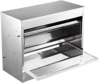 10kg Automatic Chicken Feeder Galvanized Poultry Chook Treadle Self Opening Coop