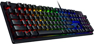 Razer Huntsman Gaming Keyboard: Opto-Mechanical Key Switches - Instant Actuation - Customizable Chroma RGB Lighting - Programmable Macro Functionality - Matte Black
