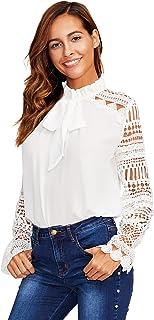 4cf2c0d4d410 Suchergebnis auf Amazon.de für: weisse bluse mit spitze: Bekleidung