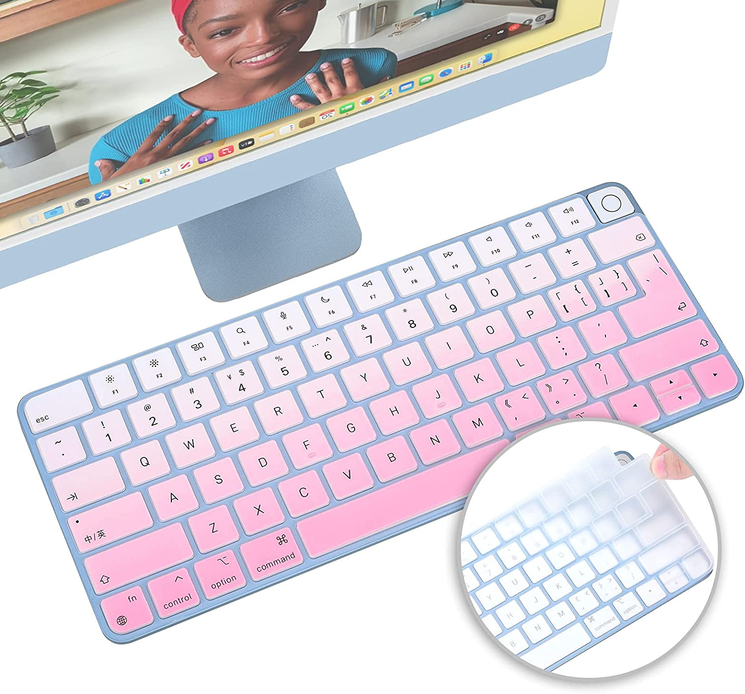 2 Pack iMac 2021 online shop Magic Inch Silicone Cover Keyboard 24 Shipping included
