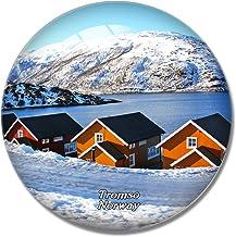 Norway Tromso Fjords 3D Fridge Refrigerator Magnet Whiteboard Magnet Souvenir Crystal Glass