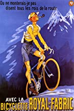 Bicyclette Royal-Fabric - Vintage French Bicycle Poster Reproduction (24 x 36)