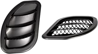 Daystar, Jeep XJ Cherokee Side Hood Vent Kit, reduce under hood temperature, black pair, fits MJ Comanche 1986 to 1992 and XJ Cherokee 1984 to 2001 2/4WD, KJ71052BK, Made in America