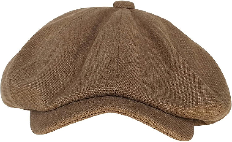 Newsboy Hat Men's Beret Superlatite Octagon Opening large release sale Cotton British Retro