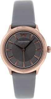Emporio Armani Women's Grey Dial Leather Band Watch - Ar1806, Analog Display, Quartz Movement