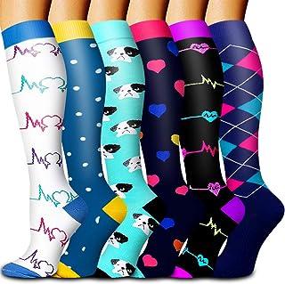 جورابهای فشرده سازی Bluemaple زنان و مردان - بهترین حالت برای دویدن ، ورزش ، ورزش ورزشی ، سفر با پرواز ، بارداری