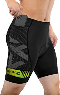AKASO Men's Cycling Shorts 4D Padded Bicycle Underwear Bike Undershorts Lightweight Quick Dry Breathable Cycling Underwear...