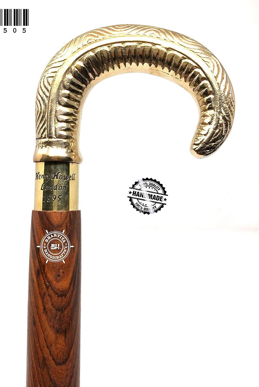 Bhartiya Popular popular Handicrafts Wooden Walking Brass Handle 55% OFF Beautiful Cane