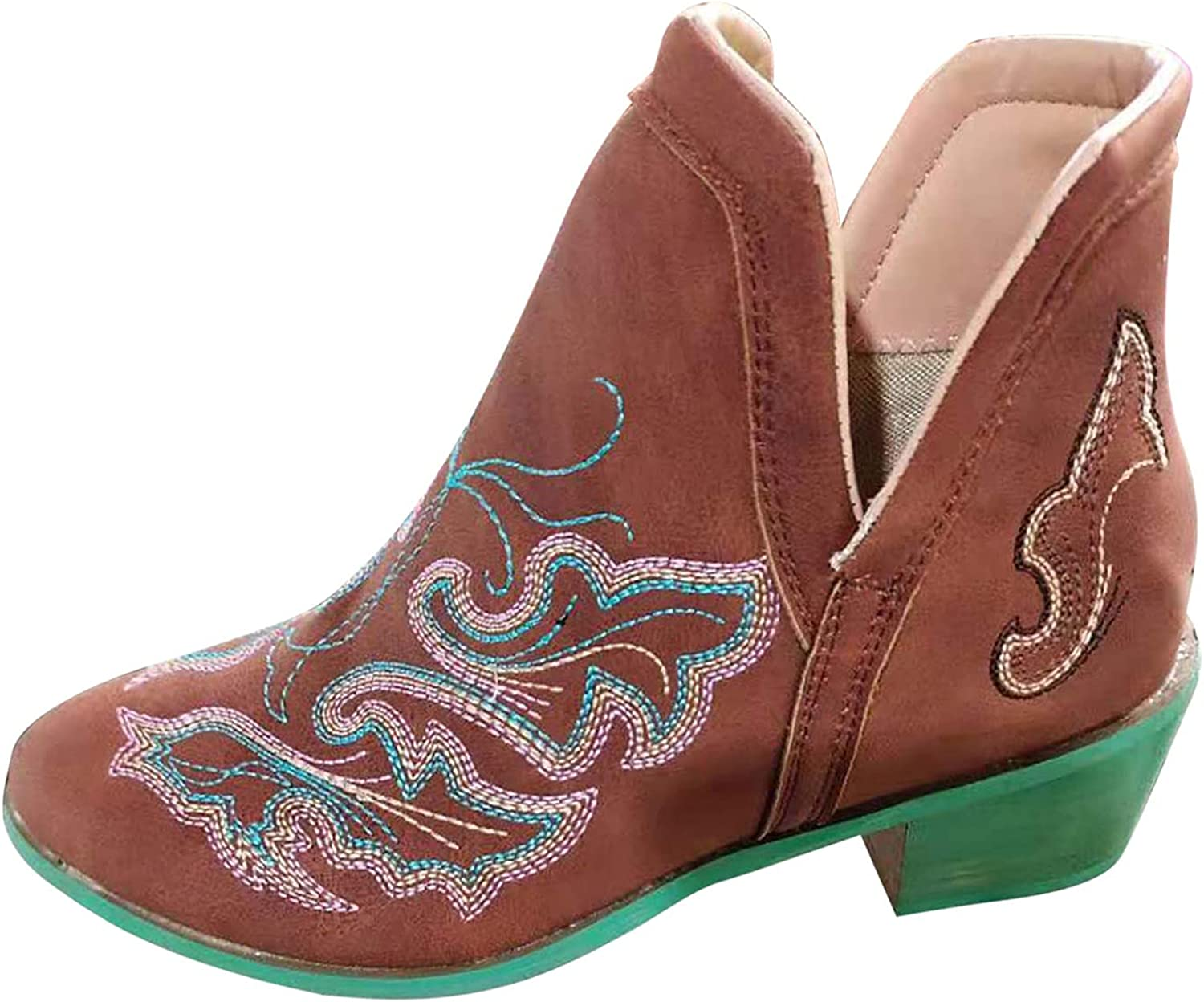 Womens Ankle Booties Side Zipper Leather Flats Boots Comfortable Outdoor Anti-Slip Waterproof Shoes Multicoloured