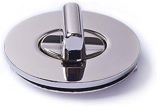 Bobeey 2sets 35x27mm Oval Purses Locks Clutches Closures,Metal Oval Twist Locks Purse Closure Turn Locks BBL4 (Silver, L)