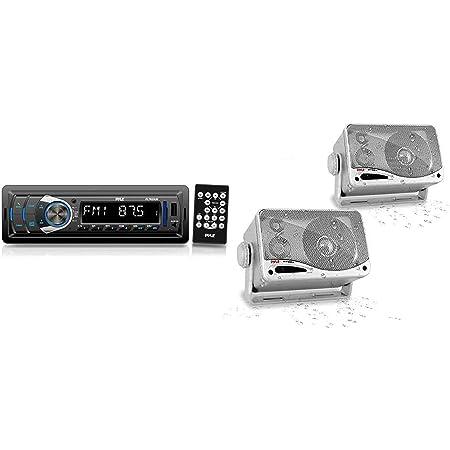 Bluetooth Car Stereo Headunit Receiver - in-Dash Single DIN Stereo Bluetooth Head Unit Receiver System w/Hands-Free Calling, AM/FM Radio, LCD, MP3/USB/SD AUX RCA - Car Bus Truck RV - Pyle PLTR25UB