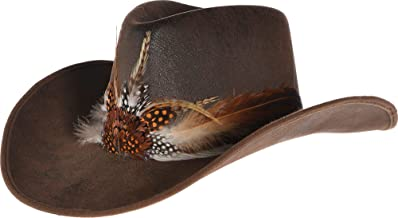Deluxe Feather Cowboy Hat, One Size