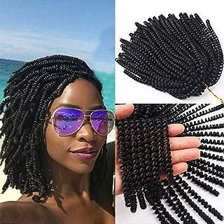 Spring Twist Hair Braiding Extensions Synthetic Ombre Colors Crochet Braids(3pcs,1B#)