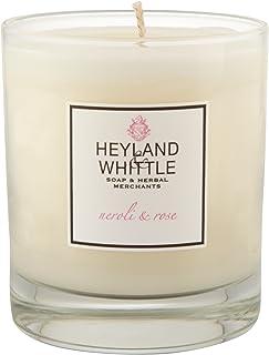 Heyland & Whittle Neroli and Rose Candle (Pack of 2) - Heyland&削るのネロリとローズキャンドル (Heyland & Whittle) (x2) [並行輸入品]