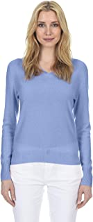 State Fusio Women's Cashmere Wool Long Sleeve Pullover V Neck Soft and Classic Fashion Sweater