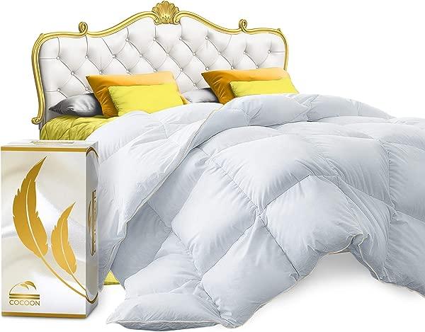 Real Luxury Down Comforter King Cali Size 100 Egyptian Cotton 1200 TC 750 FP White Goose Down Comforter Corner Tabs For King Duvet Insert Queen Duvet Insert Twin Duvets
